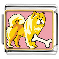 Italian Charms - chowchow dog animal photo italian charms bracelet link Image.