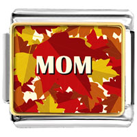 Italian Charms - mom autumn leaves italian charms bracelet link photo italian charm Image.