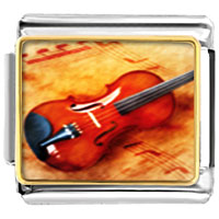 Italian Charms - violin music musical italian charms bracelet link photo italian charm Image.