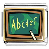Italian Charms - alphabet chalkboard italian charms bracelet link photo italian charm Image.