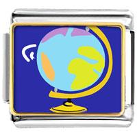 Italian Charms - globe map italian charm bracelet bracelet link photo italian charm Image.