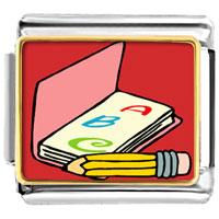 Italian Charms - alphabet book italian charms bracelet link photo italian charm Image.