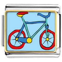 Italian Charms - bicycle italian charms bracelet link photo italian charm Image.