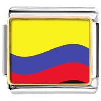 Italian Charms - colombia flag italian charm bracelet bracelet link photo italian charm Image.