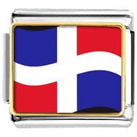 Italian Charms - dominica flag italian charm bracelet bracelet link photo italian charm Image.