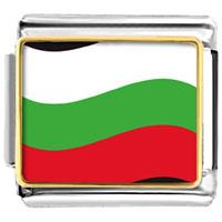 Italian Charms - bulgaria flag italian charm bracelet bracelet link photo italian charm Image.