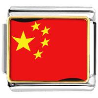 Italian Charms - china flag italian charm bracelet bracelet link photo italian charm Image.