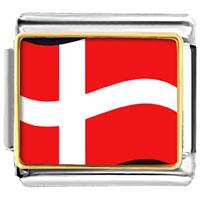 Italian Charms - denmark flag italian charm bracelet bracelet link photo italian charm Image.