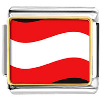 Italian Charms - austria flag italian charm bracelet bracelet link photo italian charm Image.