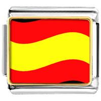 Italian Charms - spain flag italian charm bracelet bracelet link photo italian charm Image.