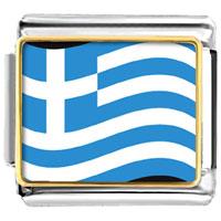 Greece Flag Italian Charm Bracelet Bracelet Link