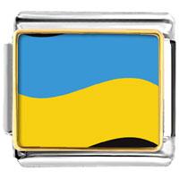 Italian Charms - ukraine flag italian charm bracelet bracelet link photo italian charm Image.