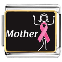 Items from KS - breast cancer awareness mother support pink ribbon photo italian charm Image.