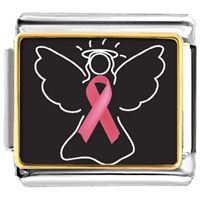 Breast Cancer Awareness Angel Hope Pink Ribbon Italian Charms