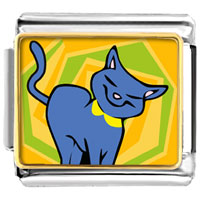 Italian Charms - animal photo russian blue cat italian charms bracelet link photo italian charm Image.