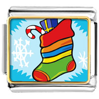 Italian Charms - christmas gifts christmas stocking snow italian charms bracelet link photo italian charm Image.