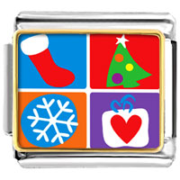 Italian Charms - various christmas decorations italian charms bracelet link photo italian charm Image.