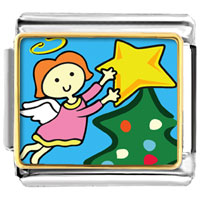 Italian Charms - christmas angel star italian charms photo italian charm Image.