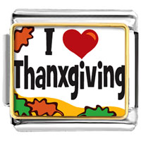 Italian Charms - i love thanksgiving italian charms photo italian charm Image.