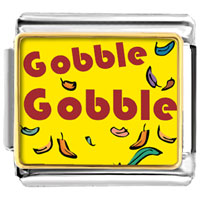 Italian Charms - gobble thanksgiving turkey italian charms bracelet link photo italian charm Image.
