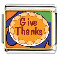 Italian Charms - give thanks in thanksgiving italian charms bracelet link photo italian charm Image.