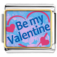 Italian Charms - be my valentine photo italian charms Image.