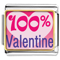 Italian Charms - %  heart valentine photo italian charms Image.