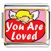 You Are Loved By An Angel Photo Italian Charm