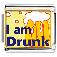 Italian Charms - i am drunk photo italian charms bracelet link Image.