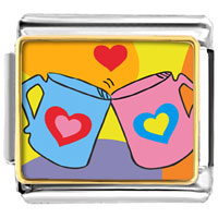 Italian Charms - valentine heart mugs italian charms photo italian charm Image.