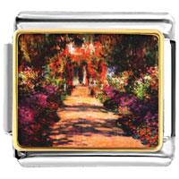 Monet S Garden Painting Italian Charms Bracelet Link