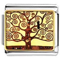 The Tree Of Life Painting Italian Charms Bracelet Link