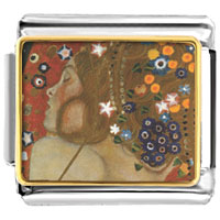 Italian Charms - water serpents paintings italian charms bracelet link photo italian charm Image.