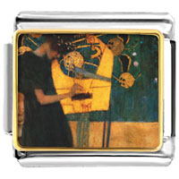 Italian Charms - musique painting italian charms bracelet link photo italian charm Image.