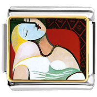 Italian Charms - the dream painting italian charms bracelet link photo italian charm Image.