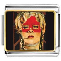 Italian Charms - face of mae west painting italian charms bracelet link photo italian charm Image.