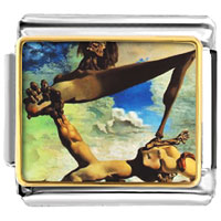 Italian Charms - construction with boiled beans painting italian charms bracelet link photo italian charm Image.