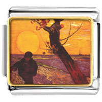 Italian Charms - the sower painting italian charms bracelet link photo italian charm Image.