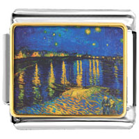 Italian Charms Starry Night Over Rhone Painting
