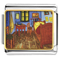 Italian Charms - the bedroom of arles painting italian charms bracelet link photo italian charm Image.