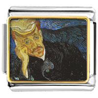 Italian Charms - portrait of dr gachet painting italian charms bracelet link photo italian charm Image.