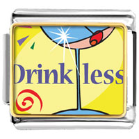 Italian Charms - drink less alcohol food italian charms bracelet link photo italian charm Image.