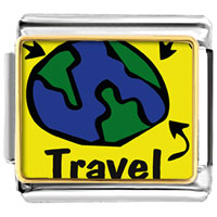 Italian Charms - travel more italian charms bracelet link photo italian charm Image.