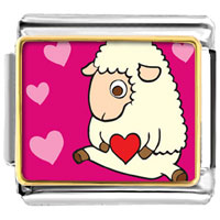 Italian Charms - sheep love gift photo charm jewelry italian photo italian charm Image.