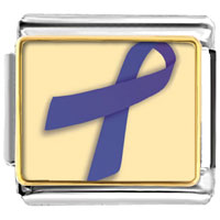 Items from KS - periwinkle ribbon awareness italian charms bracelet link photo italian charm Image.