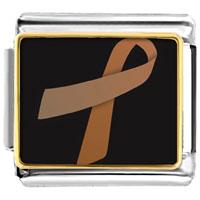 Items from KS - copper ribbon awareness italian charms bracelet link photo italian charm Image.