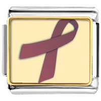 Items from KS - cranberry ribbon awareness italian charms bracelet link photo italian charm Image.