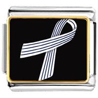 Items from KS - pinstripes ribbon awareness italian charms bracelet link photo italian charm Image.