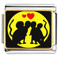 Italian Charms - gold plated valentine' s day mouse in love photo italian charm bracelet bracelets Image.