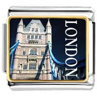 Golden London Building 9 Mm Italian Charms For Bracelet